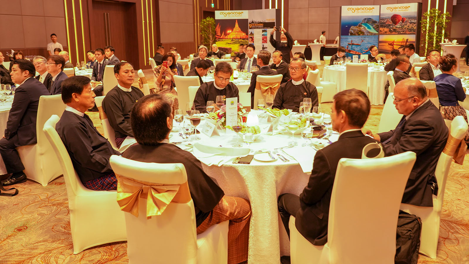 The welcoming dinner being hosted to hounour the representatives of JATA Fam Trip from Japan. Photo: MNA