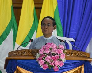 Opening speech of President U Win Myint at the ceremony commemorating the occasion of successful 50% countrywise power supply service
