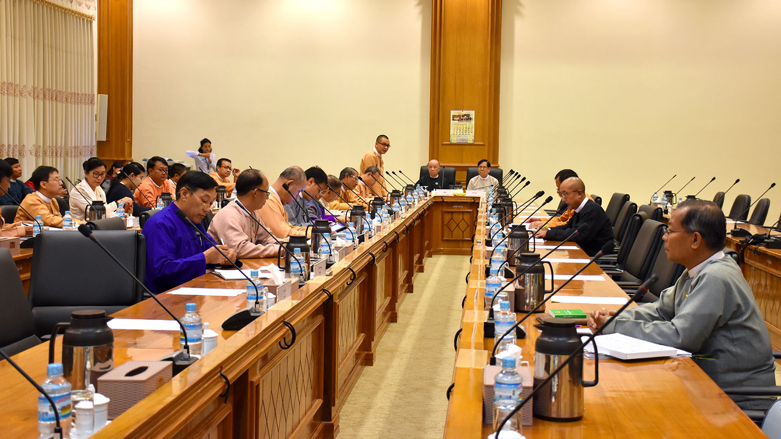 Meeting 2/2020 of the Joint Committee on Amending the 2008 Constitution held in Nay Pyi Taw yesterday. Photo: MNA