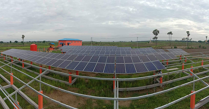 Eight villages between Ayeyawady and Chindwin rivers in Yasagyo Township get access to solar power last year. Photo: Than Lwin (Magway)