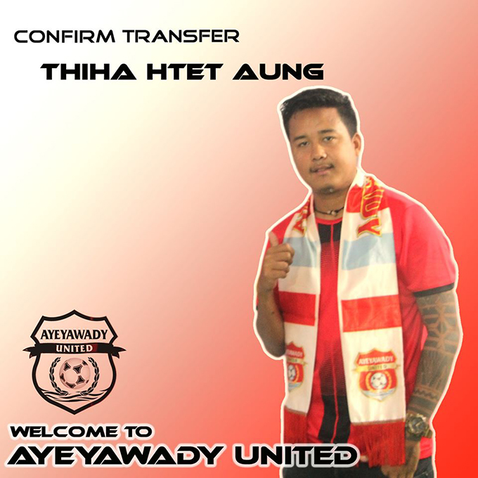 Defender Thiha Htet Aung. Photo: MNL