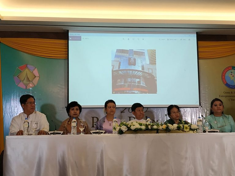 A press conference for the third Yangon International Gems and Jewellery Fair 2020 from 10 to 13 January held in Yangon. Photo: Supplied