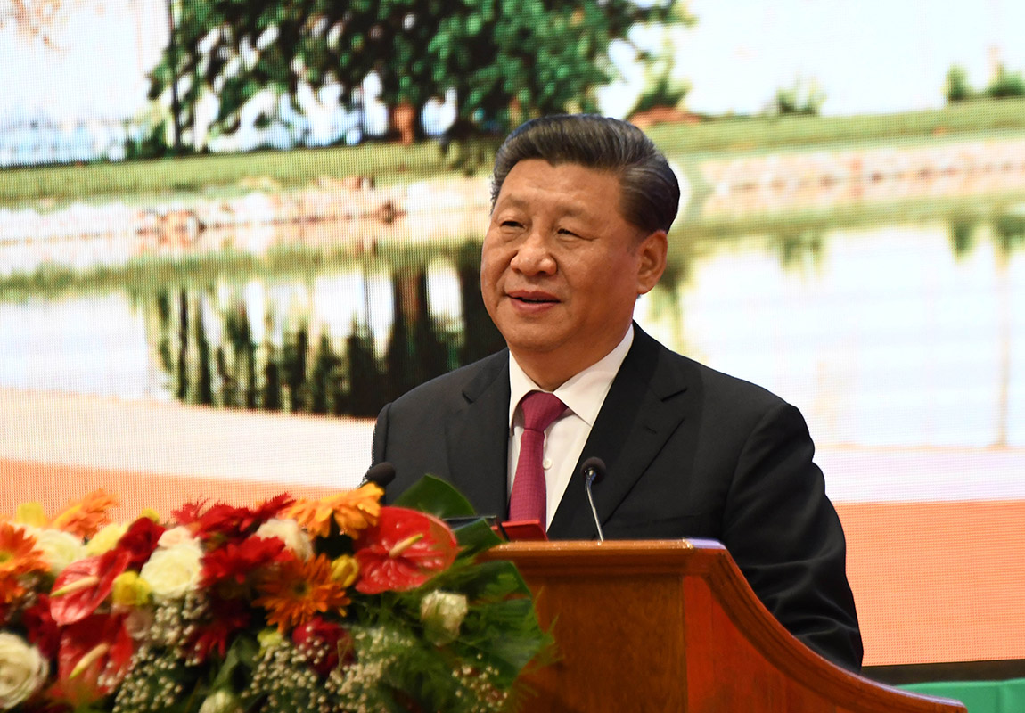 President of China Mr Xi Jinping delivers the opening speech.Photo: MNA