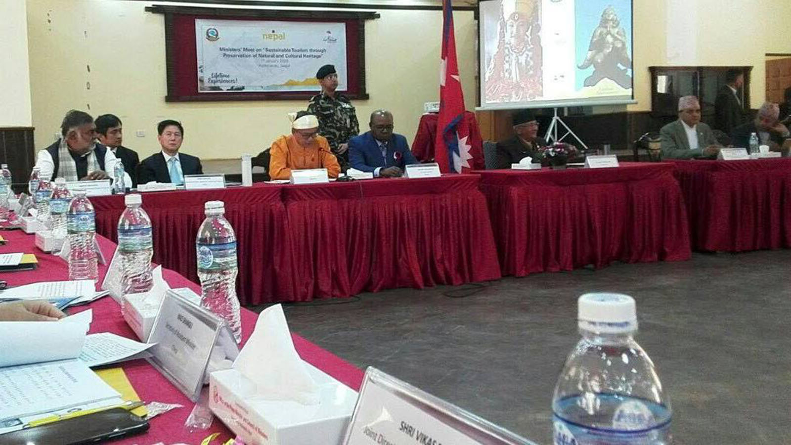 Union Minister U Ohn Maung attends the inaugural ceremony of Visit Nepal 2020 and tourism ministerial meeting in Kathmandu, Federal Democratic Republic of Nepal, on 1 January.Photo:MNA