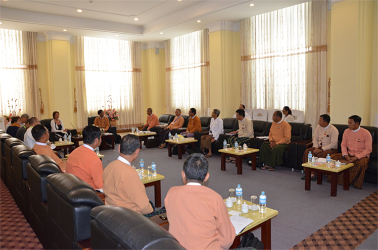 The Amyotha Hluttaw Public Complaints Committee meets with UNSC's Special Envoy Mrs Christine Schraner Burgener.