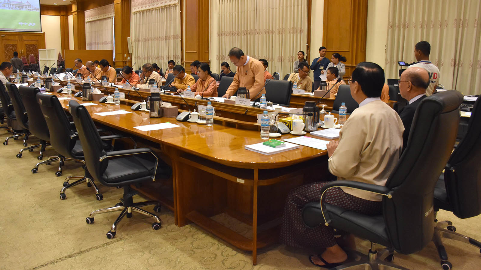 Joint Committee on Amending the 2008 Constitution holds meeting  1/2020 in Nay Pyi Taw yesterday.  Photo: MNA