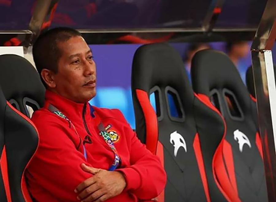 Myanmar national women's team head coach U Win Thu Moe.Photo:MFF