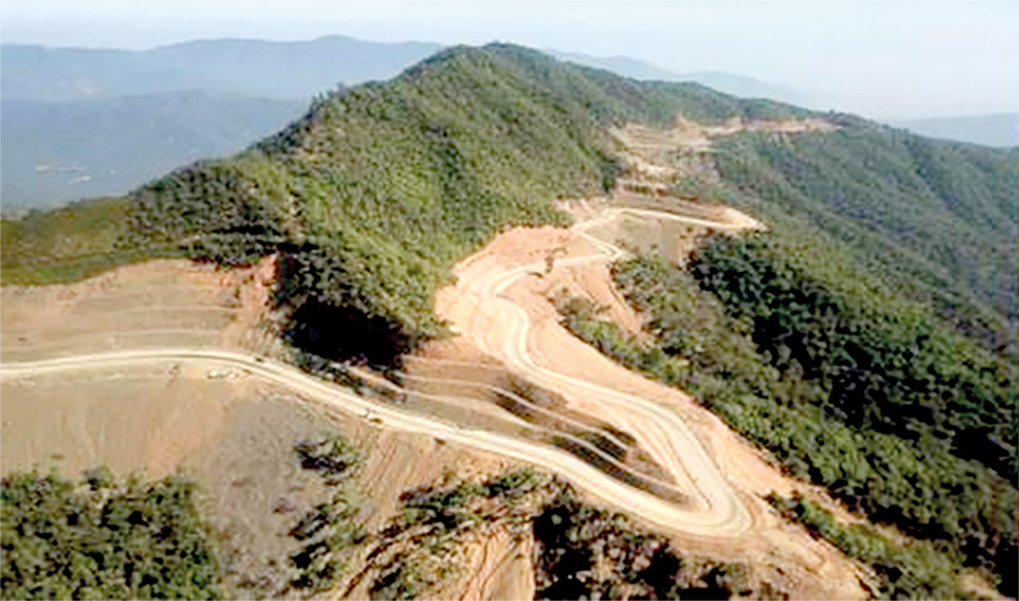 The 124-mile long Kalay-Falam-Haka Road will be upgraded by the Ministry of Construction.Photo: MoC