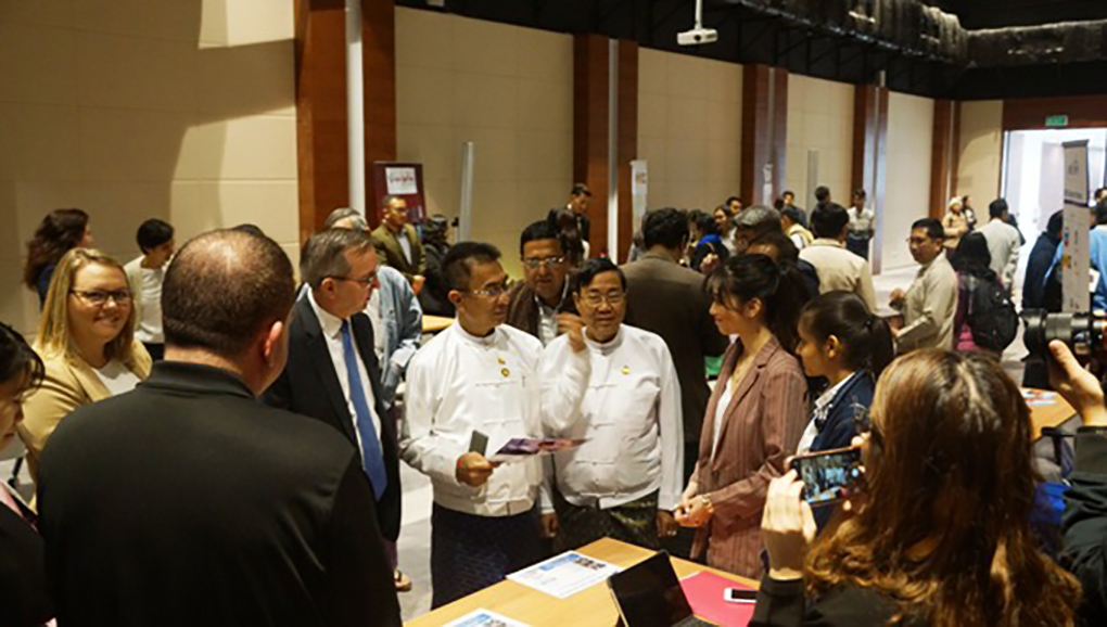 US Business Showcase jointly organized by American Chamber of Commerce in Myanmar  and Mandalay Region Chamber of Commerce and Industry (MRCCI) held on 5 February in Mandalay. Photo: Supplied