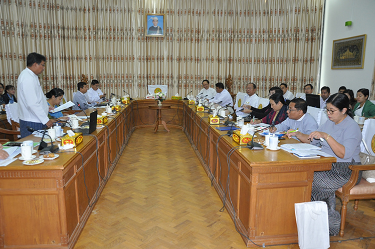 A daily meeting on prevention, control measures for the COVID-19 held on 13 February 2020.Photo: MNA