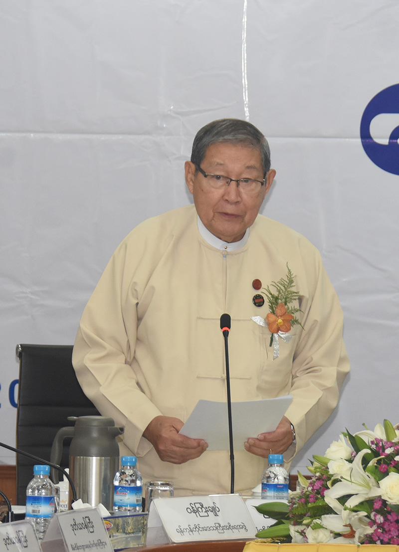 Union Minister for Planning, Finance and Industry U Soe Win.