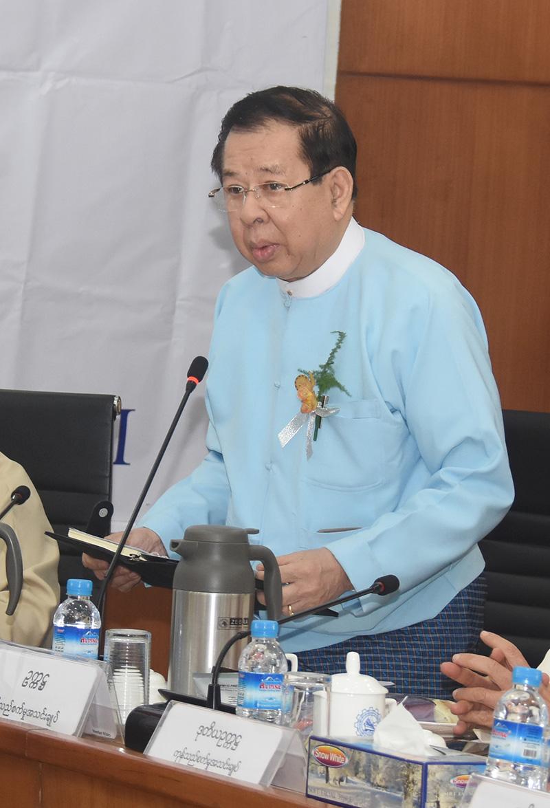 President of UMFCCI U Zaw Min Win.