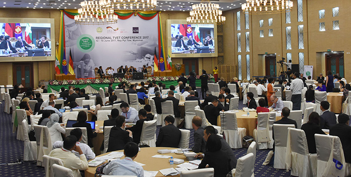 Regional Technical and Vocational Education and Training—2017 held in Nay Pyi Taw.