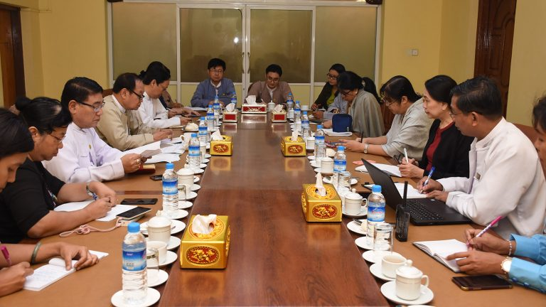The Coordination meeting of Ministry of Health and Sports in progress in Yangon yesterday. Photo: MNA