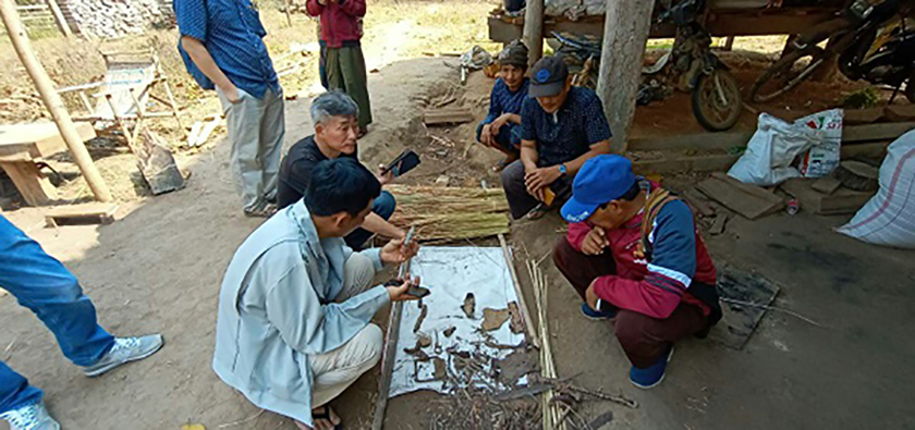 Remains of Japanese soldiers discovered in Mawlu town, Indaw township, Sagaing Region. Photo: Maung Chit Lin (Indaw)