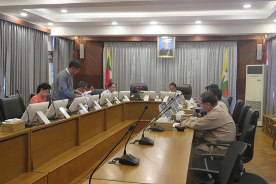 Union Minister Dr Than Myint attends the (3/2020) meeting of Myanmar Investment Commission (MIC) in Yangon yesterday.Photo: MNA