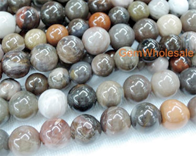 Wood fossil Jewelry beads (GemWoholesale)