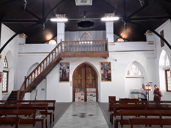 Interior of Armenian Apostolic Orthodox Church in Yangon.Photo: MaungTha (Archaeology)