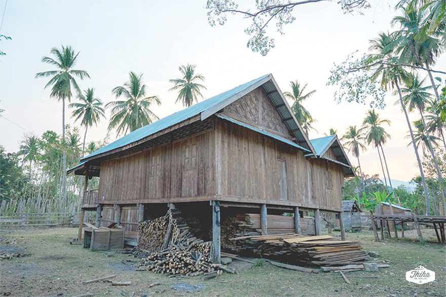 Traditional house of locals in significant style.