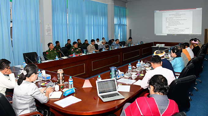 The 26th meeting of the Union Peace Dialogue Joint Committee Secretariat being convened in Nay Pyi Taw yesterday.Photo: MNA