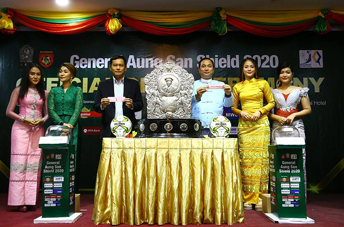 The drawing ceremony for the General Aung San Shield 2020 was held yesterday in Yangon. Photo: MFF