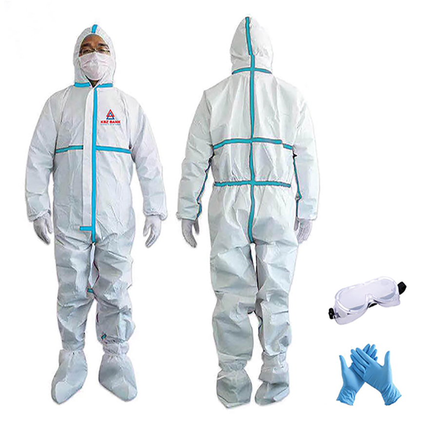 PPE Suit_Credit to KBZ Bank.
