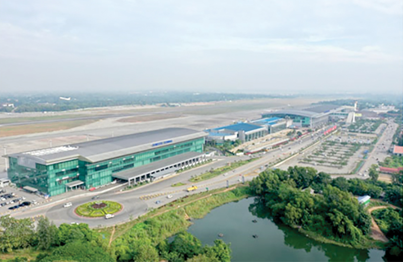 Yangon International Airport is the primary international airport of Myanmar.