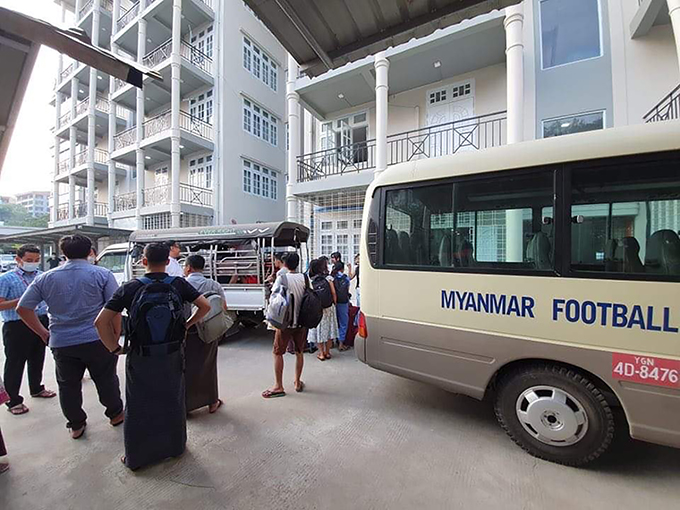 Officials from MFF arranging accommodation for the healthcare providers and quarantined persons.Photo: MFF