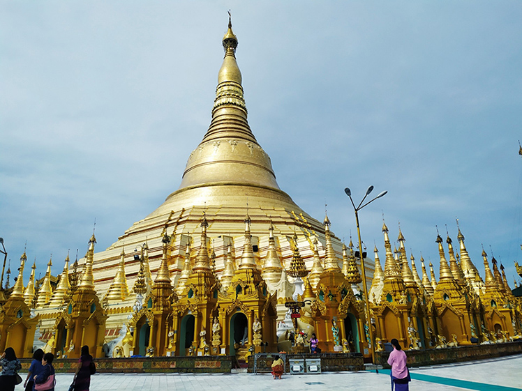 The view of the Shwedagon Pagoda.Photo: Myint Maung