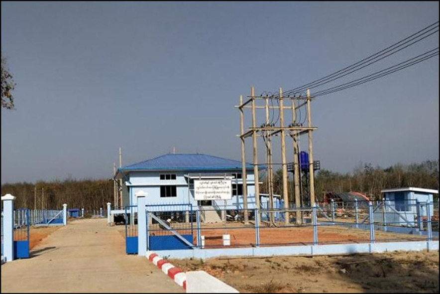 66/11 KV (10) MVA Sub-power station in Kya-in-Seikkyi comes into operation on 31, December, 2019.