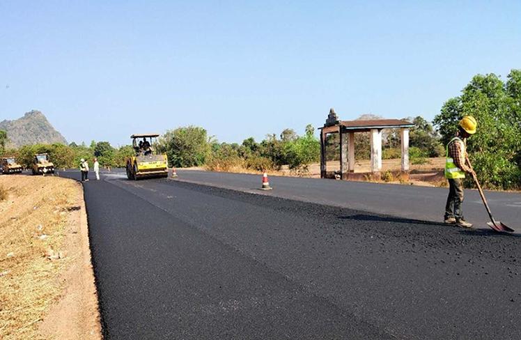 Eindu-Kawkareik Road is being upgraded on 5 Nov 2019.