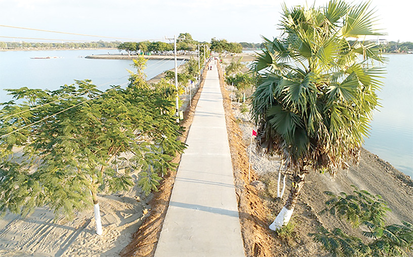 Kanthayar Lake in Monywa has been upgraded with scenic surrounding in the fourth-year period of the Sagaing Region Government.