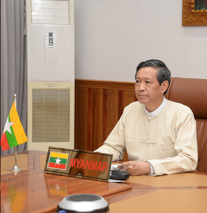 Union Minister for Education Dr Myo Thein Gyi meets