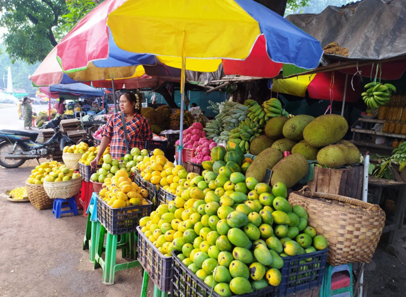 A fruit shop seen in Popa.Photo: Ko Htein (Ngathayouk)