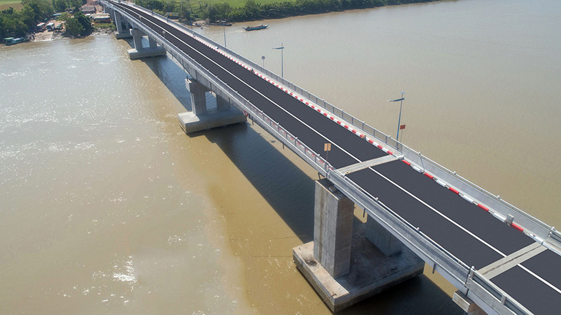 The Labutta (Pinlal Lay) Bridge was commissioned into service by State Counsellor Daw Aung San Suu Kyi in late December last year.  Photo: MNA