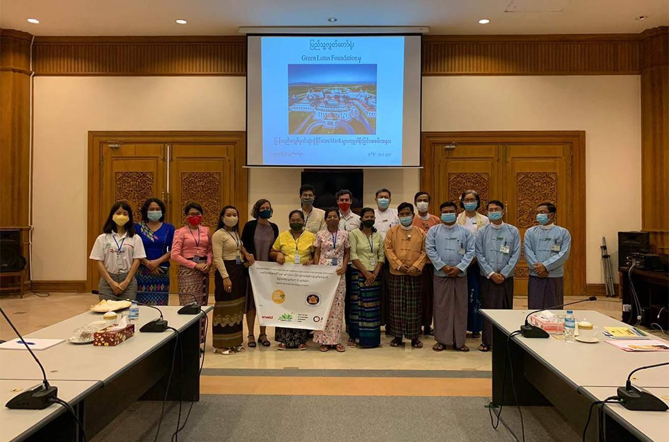Bawa Pann Daing donates 1,000 reusable facemasks to Pyidaungsu Hluttaw on 15 July.Photo supplied.