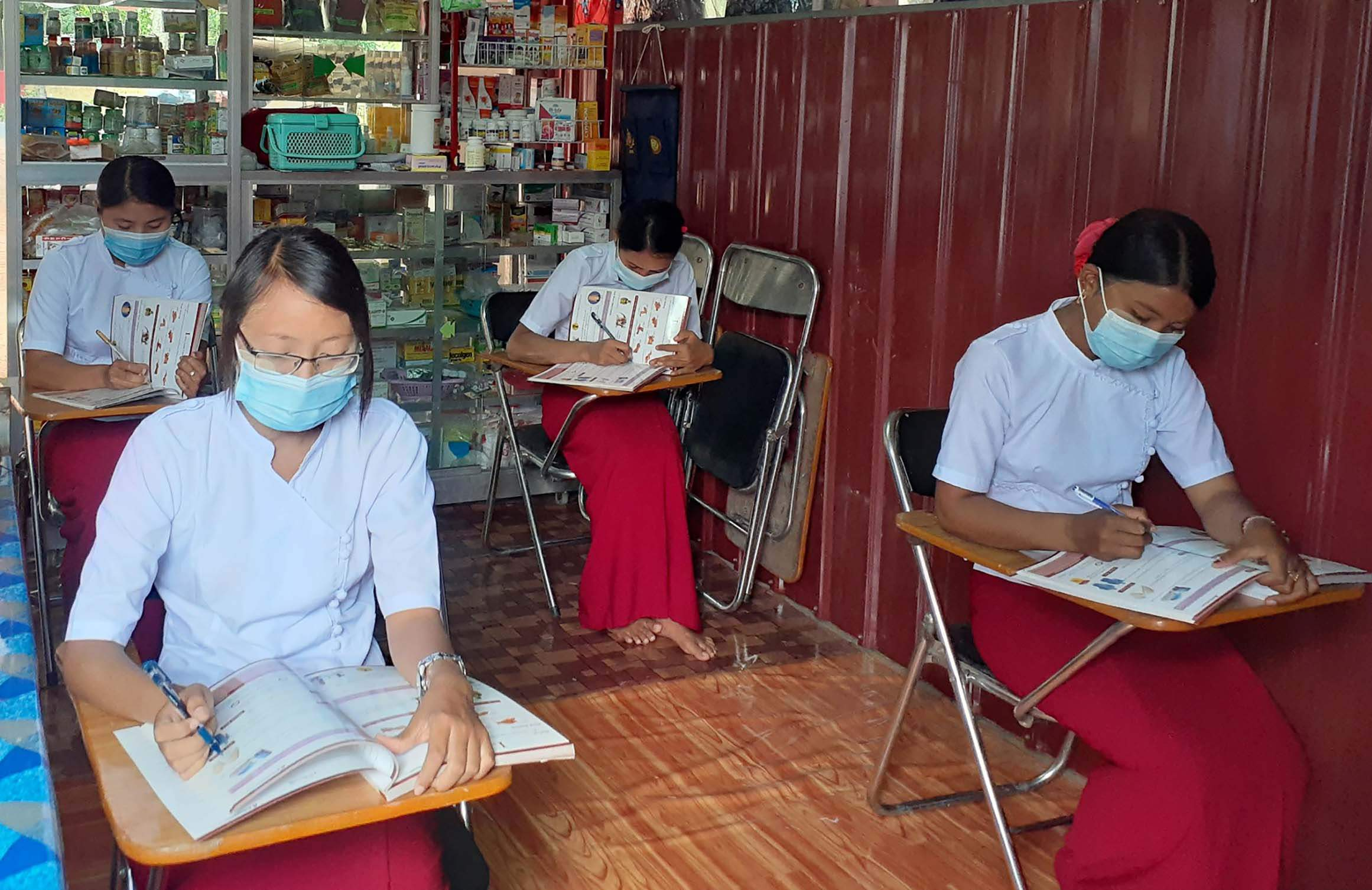 MPRL E&P Pte Ltd., is helping locals with nurse-aid training courses in Mann oilfield.Photo : MNA