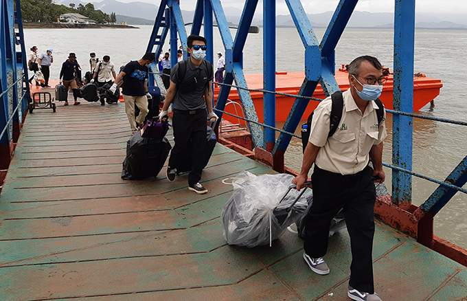 19 Myanmar seafarers quarantined at Kawthoung