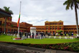 State Flag flies at half-staff at Secretariat for 73rd Martyrs' Day