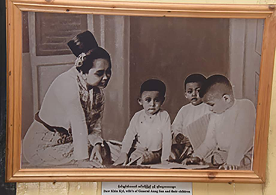 A document photo in dining room of Bogyoke Aung San