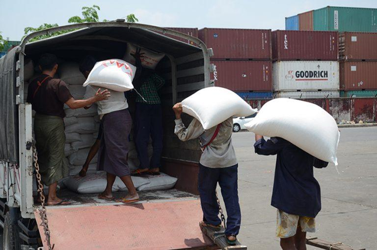 EU and African countries are the major markets for Myanmar rice. PHOTO: Phoe Khwar