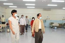 MoHS minister visits COVID-19 treatment centre in Phaunggyi