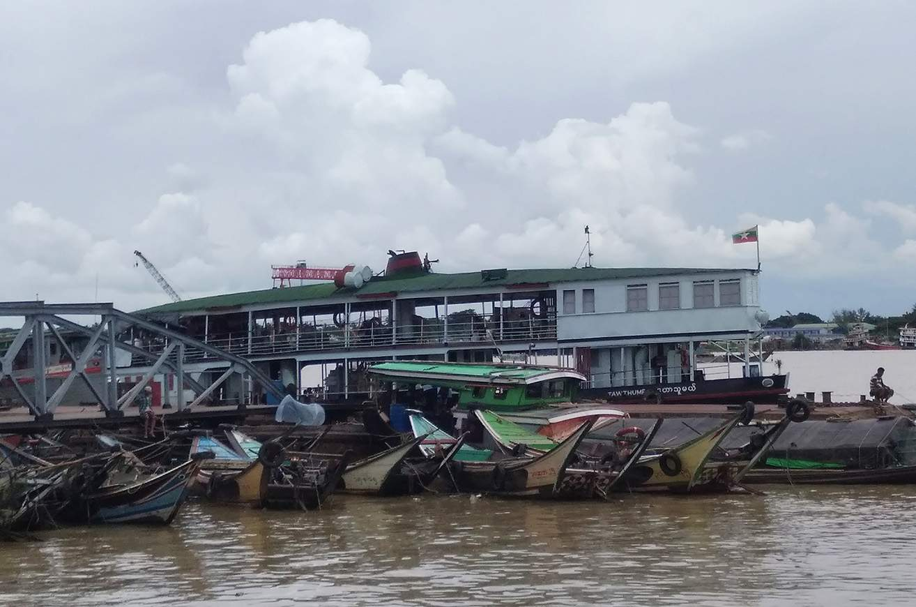 A jetty in Yangon is seen on 21 July 2020. The Inland Water Transport (IWT) is resuming ferry service to Ayeyawady from Yangon. Photo : Thant Zin Win