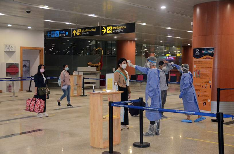 115 Myanmar citizens repatriated from foreign countries on 8 July