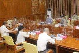Union Minister Dr Win Myat Aye holds meeting on resettlement of IDPs in Kachin State