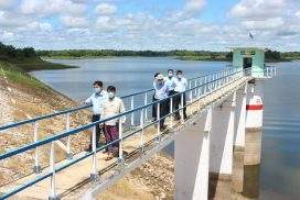 Irrigation officials inspect dams in Nay Pyi Taw