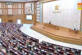 Pyithu Hluttaw raises asterisked questions, turns down urgent motion at 4th-day meeting