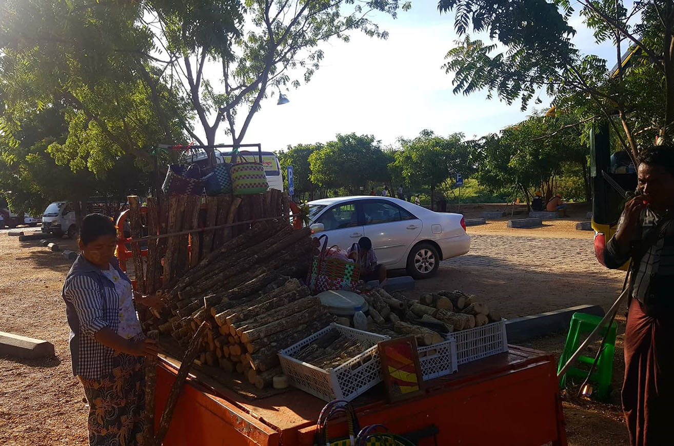 A vendor sells Thanaka in Bagan. Photo: Ye Htut Tin(NLM)
