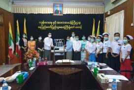 Myanmar families in Tokyo donate Patient Monitor to Nay Pyi Taw General Hospital