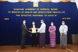 China-based TBEA company donates masks to MoHS